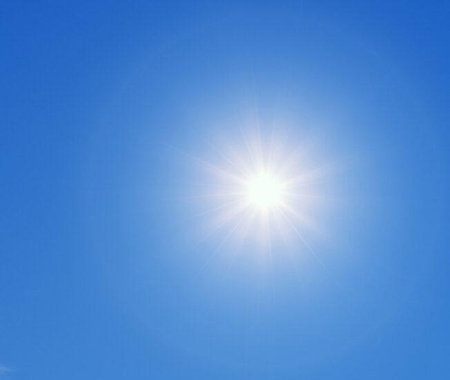 Högt stående sol