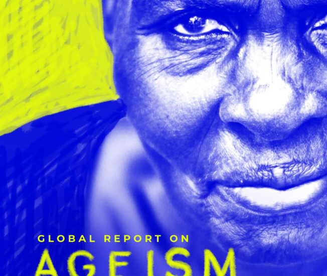 Omslag till rapporten Global report on ageism